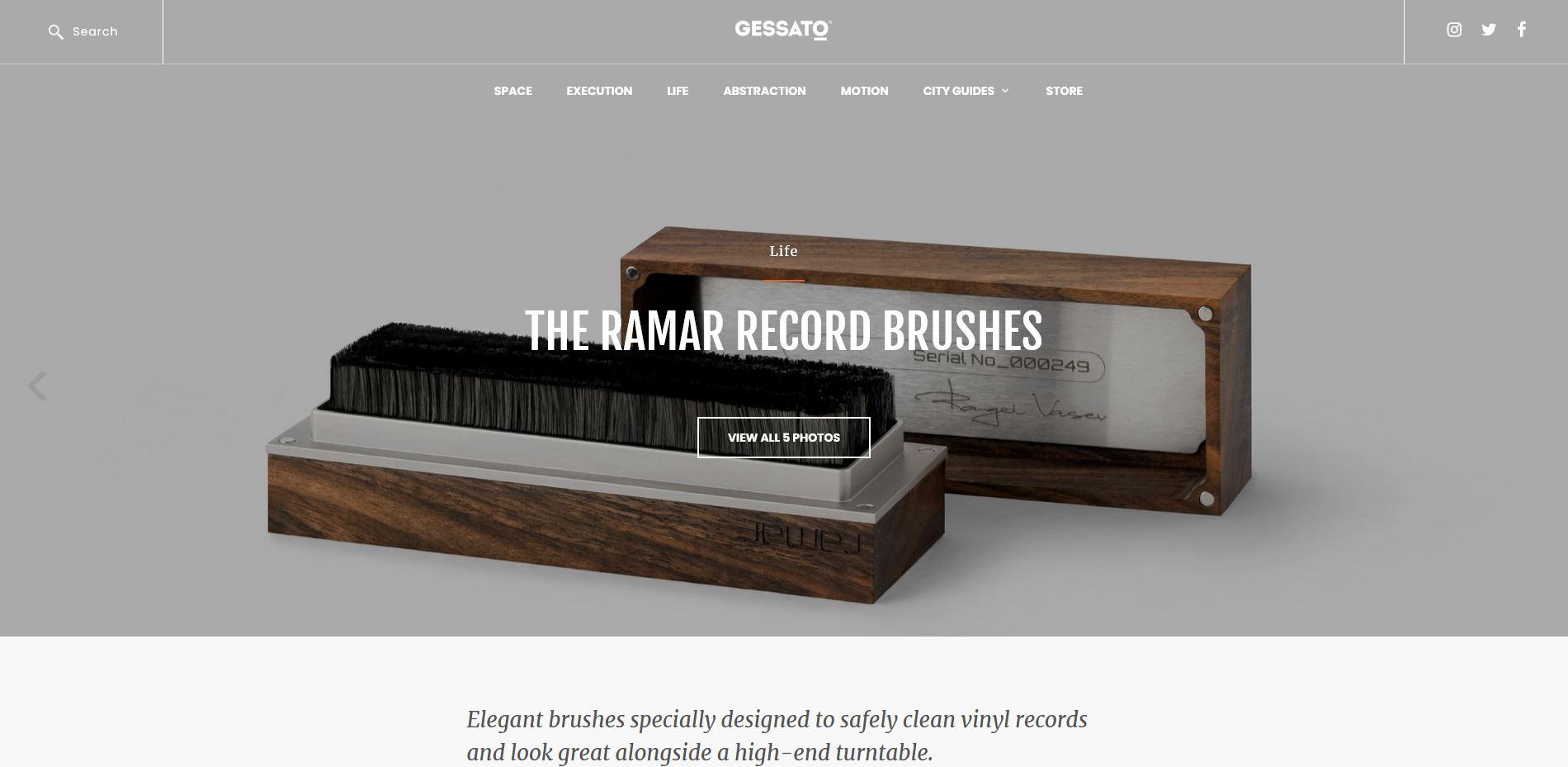 ramar record brush